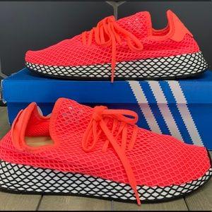 Adidas Deerupt Runner Turbo Red Black Shoes Sz 12